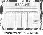 weekly and daily planner... | Shutterstock .eps vector #772664383