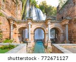 view of hadrian's gate in old... | Shutterstock . vector #772671127