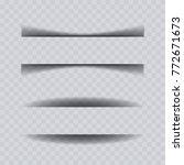 paper sheet shadow effect... | Shutterstock .eps vector #772671673