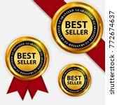 best seller collection set... | Shutterstock .eps vector #772674637