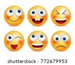 set of emoji. smileys vector... | Shutterstock .eps vector #772679953