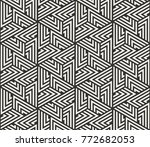 vector seamless lines pattern.... | Shutterstock .eps vector #772682053