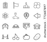 thin line icon set   report ... | Shutterstock .eps vector #772687897