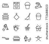 thin line icon set   iron ... | Shutterstock .eps vector #772688023