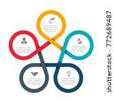 business data visualization.... | Shutterstock .eps vector #772689487
