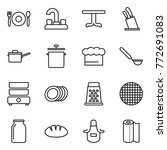 thin line icon set   cafe ... | Shutterstock .eps vector #772691083