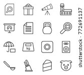 thin line icon set   search... | Shutterstock .eps vector #772691137
