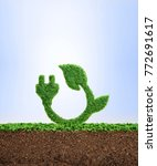 grass growing in the shape of a ... | Shutterstock . vector #772691617