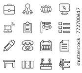 thin line icon set   portfolio  ... | Shutterstock .eps vector #772700617