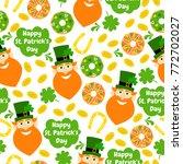 happy st. patricks day.... | Shutterstock .eps vector #772702027