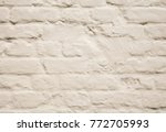 old and worn cream painted... | Shutterstock . vector #772705993