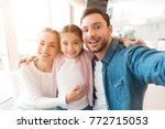 a young family came together in ... | Shutterstock . vector #772715053