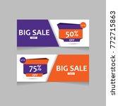 sale banner template design.... | Shutterstock .eps vector #772715863