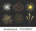 Colorful Firework Set Bursting...