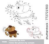 mammoth. dot to dot educational ... | Shutterstock .eps vector #772721503