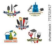 gardening tools and equipment... | Shutterstock .eps vector #772721917