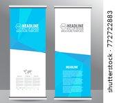 roll up business brochure flyer ...   Shutterstock .eps vector #772722883