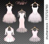 wedding dresses on a hanger on...   Shutterstock .eps vector #772723783