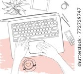 vector illustration of hand... | Shutterstock .eps vector #772729747