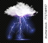 realistic vector cloud and... | Shutterstock .eps vector #772738957