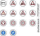 line vector icon set   barrier... | Shutterstock .eps vector #772739107
