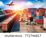 business logistics concept ... | Shutterstock . vector #772746817