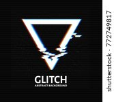 glitched triangle frame design. ... | Shutterstock .eps vector #772749817