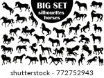 a large collection of horse... | Shutterstock .eps vector #772752943