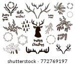 big set of doodle  christmas...   Shutterstock .eps vector #772769197