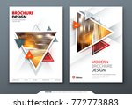 brochure template layout design.... | Shutterstock .eps vector #772773883