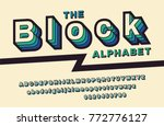 retro font 90's  80's. with... | Shutterstock .eps vector #772776127