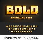vector bold alphabet with...   Shutterstock .eps vector #772776133