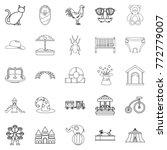 boyishness icons set. outline