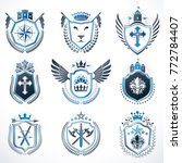 set of vector vintage emblems... | Shutterstock .eps vector #772784407