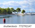 seaside scenery in sunny day in ... | Shutterstock . vector #772792147