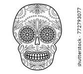 day of the dead colorful skull... | Shutterstock . vector #772793077