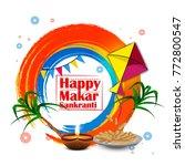 makar sankranti  hindu festival ...   Shutterstock .eps vector #772800547