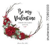 floral greeting valentine card...