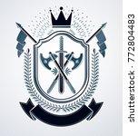 classy emblem  vector heraldic... | Shutterstock .eps vector #772804483