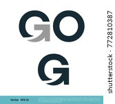 go and g letter icon vector...