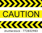 caution sign background vector...   Shutterstock .eps vector #772832983