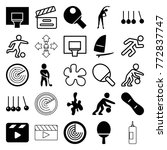 set of 25 action filled and... | Shutterstock .eps vector #772837747