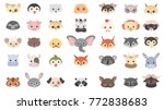 animal masks set with eyes for... | Shutterstock .eps vector #772838683