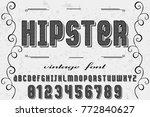 font.alphabet.script.typeface... | Shutterstock .eps vector #772840627