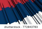 fragment flag of slovakia. 3d... | Shutterstock . vector #772843783