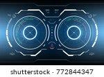 futuristic technology hud... | Shutterstock .eps vector #772844347