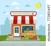 vector illustration of fruits...   Shutterstock .eps vector #772851697