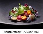haute cuisine food | Shutterstock . vector #772854403