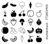 set of 25 ripe filled and... | Shutterstock .eps vector #772855903