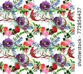 bouquet flower pattern in a... | Shutterstock . vector #772856437